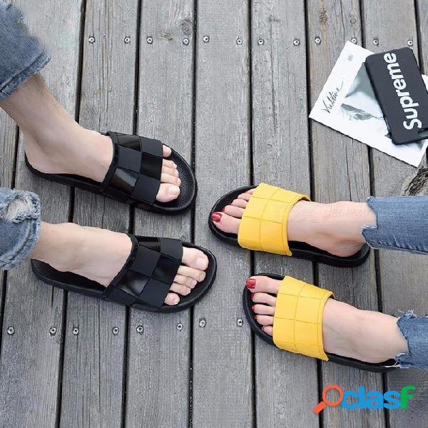Zapatilla antideslizante para hombre, sandalias antideslizantes casuales, sandalias antideslizantes, zapatos planos para baño interior negro / 40