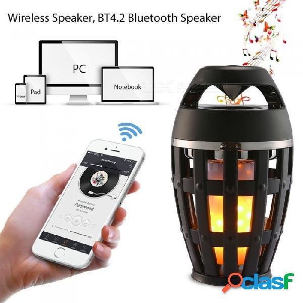 Zhaoyao portátil estéreo portátil bluetooth altavoz a prueba de agua w / led lámpara de la atmósfera de la llama para la fiesta de baile