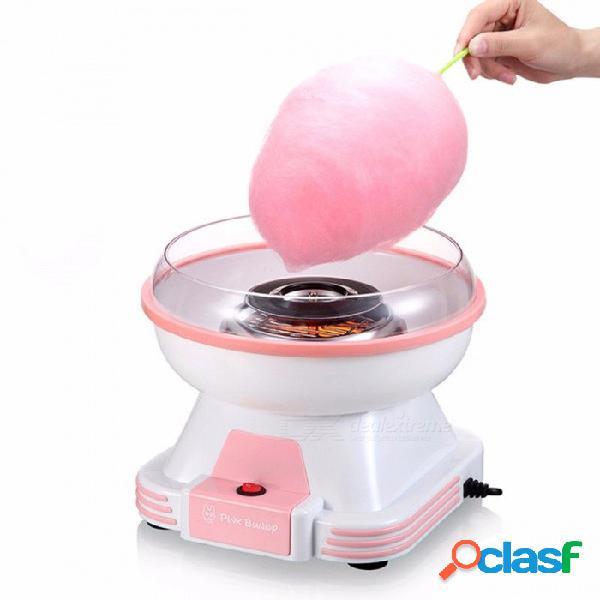 Algodón eléctrico fabricante de dulces mini hogar diy máquina de azúcar para algodón de azúcar hilo dulce procesadores de alimentos máquina niños regalo