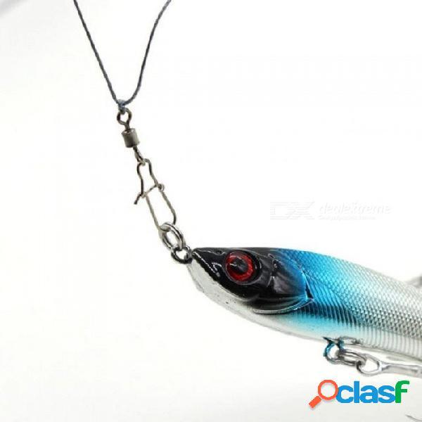 Conector de pesca pin teniendo rodamiento giratorio de acero inoxidable con gancho señuelo trastos 50pcs / lot 2