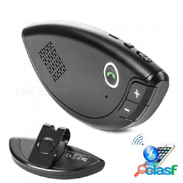 E08 kit de coche bluetooth, altavoz de manos libres visera / inalámbrico altavoz / audio del coche reproductor de mp3 voz transmitida negro