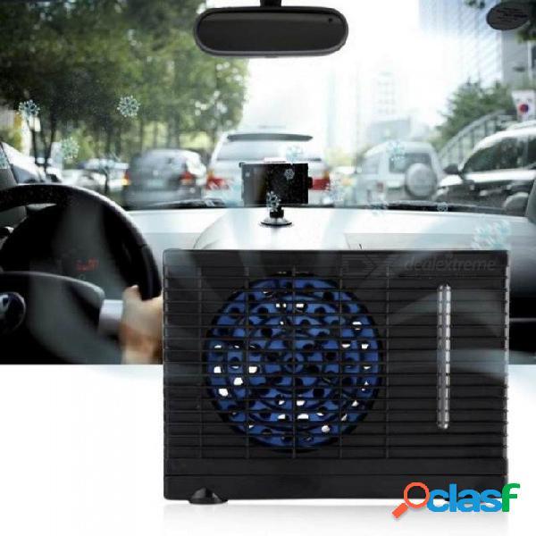 Hogar 12v mini aire acondicionado evaporador enfriador de agua ventilador de enfriamiento carro de camión en casa con color negro negro