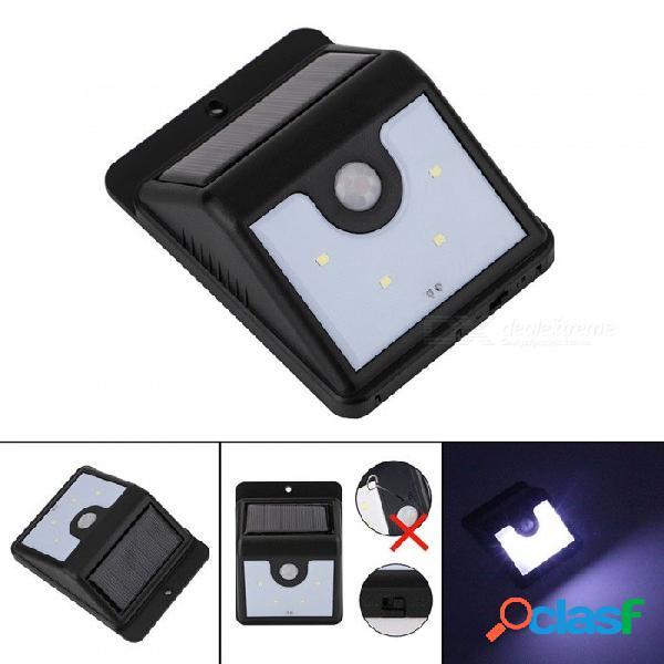 Lámpara de inducción portátil de cuerpo humano portátil de 4 led, lámpara de jardín de porche para iluminación exterior blanco / 0-5w / negro