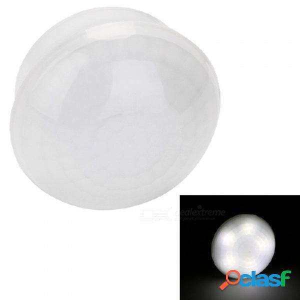 Forma de seta portátil 5-led luz de noche, sensor de movimiento lámpara de emergencia para habitación de bebé blanco / blanco