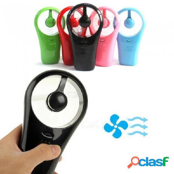 Ultra portátil recargable mini ventilador de refrigeración usb de mano acondicionador enfriador de aire usb gadgets para la vida al aire libre deportes rojo
