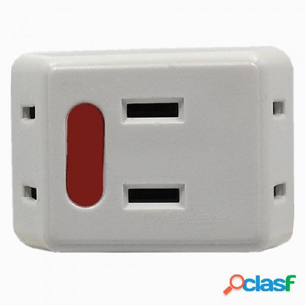 1 a 3 10a 1500w mini enchufe de alimentación de ee. uu. para electrodomésticos de bajo consumo - blanco