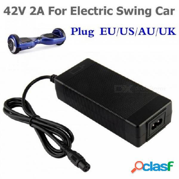 Cargador de batería universal 42v 2a para hoverboard smart balance 36v cargador de adaptador de scooter de potencia eléctrica ue / ee. uu. / au / uk ee. uu.
