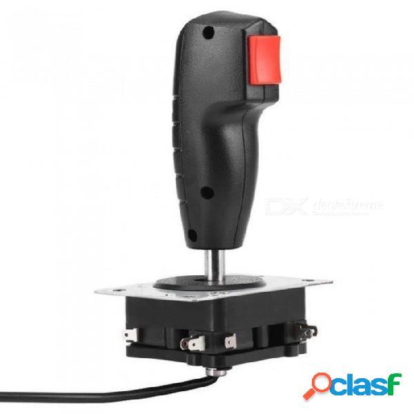 Joystick de vuelo fresco de 8 maneras con gatillo & botón de disparo superior para juego de arcade con color negro para 1 pieza negro