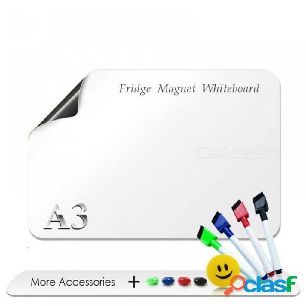 "Xindi a3 whiteboard 8.3 ""x 11.7"" imanes de nevera flexibles a prueba de agua tablero de dibujo mensaje magnético tableros del refrigerador fm05"