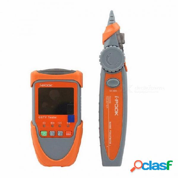 Digital 2.0 pulgadas probador de la cámara cctv monitor de video pruebas de audio prueba de escaneo de cable de red portátil cable de seguimiento de naranja