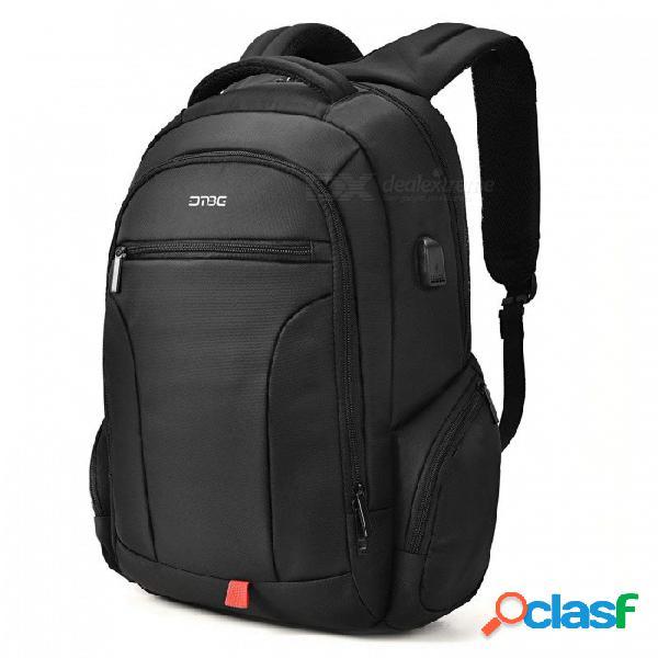 Dtbg mochila para portátil de negocios con estilo de viaje de 17,3 pulgadas con puerto de carga usb, bolsillos antirrobo para mujeres hombres