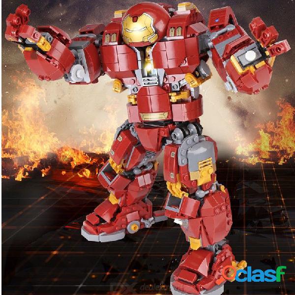 Juguete de inteligencia de bricolaje superhéroe hombre de hierro anti-gancho armadura rompecabezas de montaje conjunto de bloques de construcción 07101