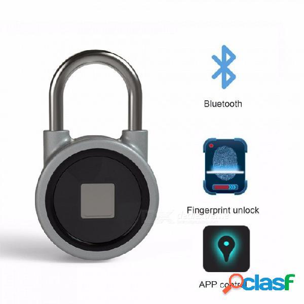 Sistema de candado de huella dactilar inteligente portátil seguro de carga usb recargable impermeable cerradura de la puerta control de app