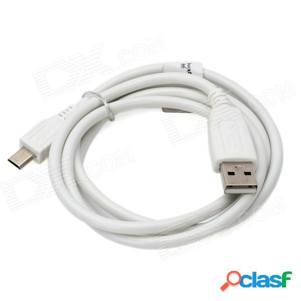 Usb 2.0 de alta velocidad a cable de datos micro usb 5pin para samsung n7100 / i9300 / v8 - blanco (105 cm)