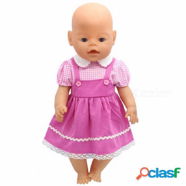 Ropa llevada linda portable de la muñeca del bebé, chaqueta con capucha + pantalones, juego apto 43cm muñeca zapf llevada rosa(11)