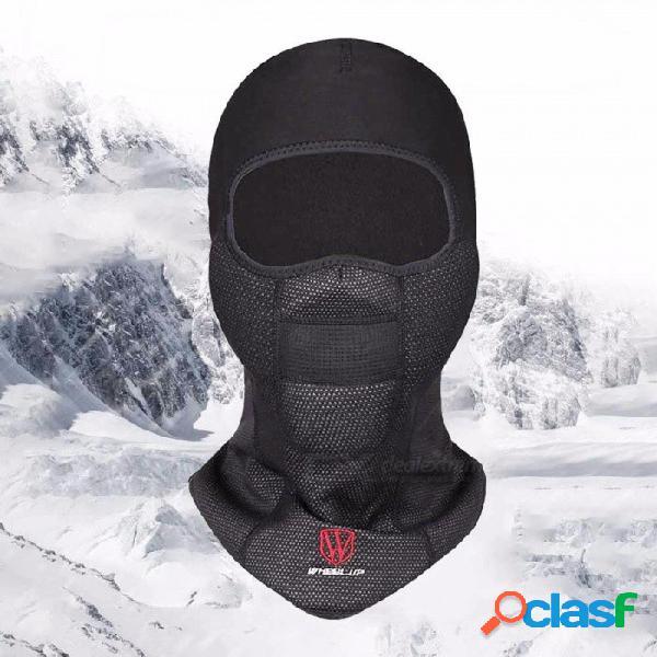 Rueda hacia arriba invierno motocicleta ciclismo mascarilla transpirable a prueba de viento deporte al aire libre cálido sombrero magnífico sombra ninja negro