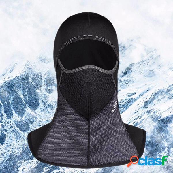 Rueda hacia arriba invierno motocicleta ciclismo mascarilla transpirable a prueba de viento deporte al aire libre cálido sombreros raikage cremallera negro