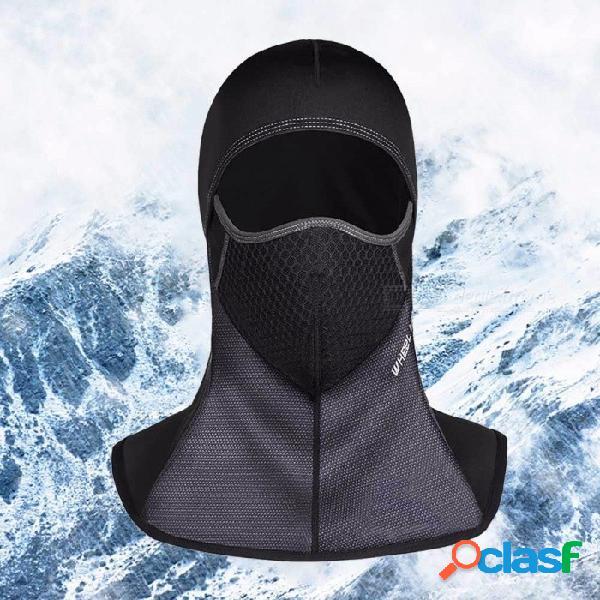 Rueda hacia arriba invierno motocicleta ciclismo mascarilla transpirable a prueba de viento deporte al aire libre cálido sombrero raikage negro