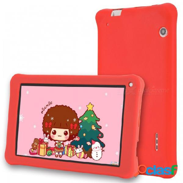 """Aoson m753-s 7 """"tablet pc para niños de cuatro núcleos android 6.0 1024x600 ips, software preinstalado para niños, 1gb de ram, 16gb de rom - rojo"""