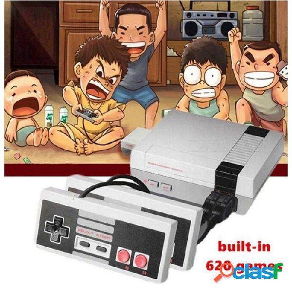 Consola de videojuegos recreativos familiares nes retro mini tv de mano con juegos clásicos 500 incorporados (enchufe de la ue)