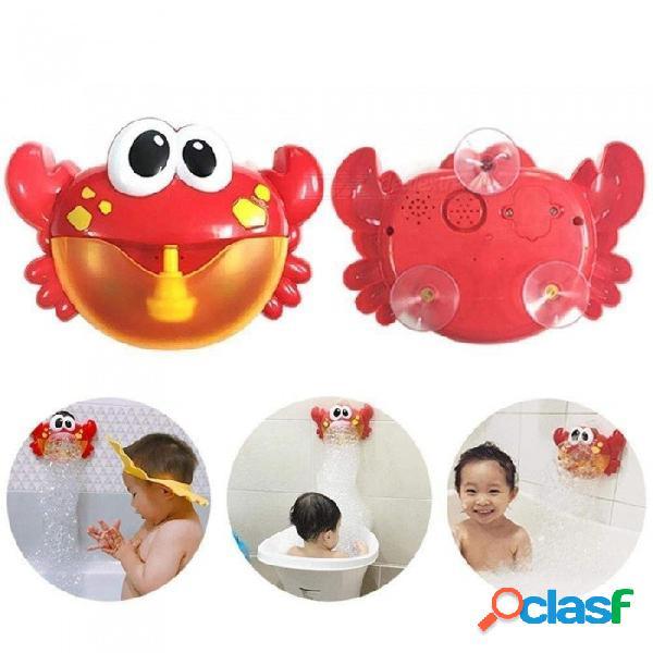 Esamact máquina de burbujas de alta calidad cangrejo grande fabricante de burbujas automático soplador de música baño de juguete para bebé outwearing