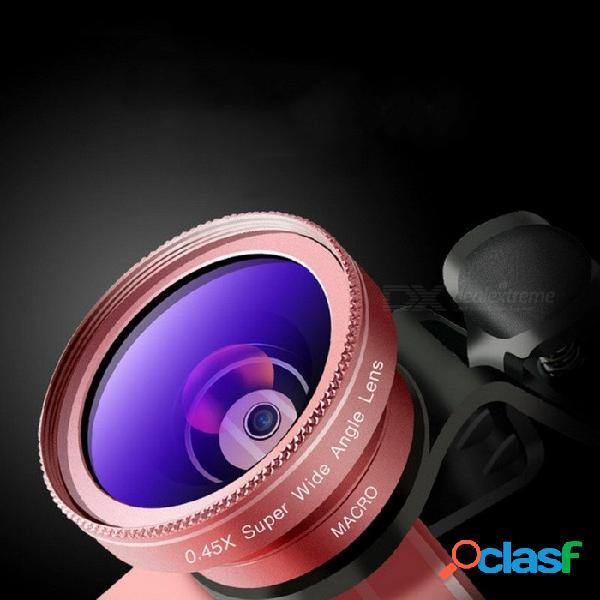 Lente gran angular cyke 2 en 1 de 0.45x + macro de 12.5x para teléfono celular, lente de clip externa negra