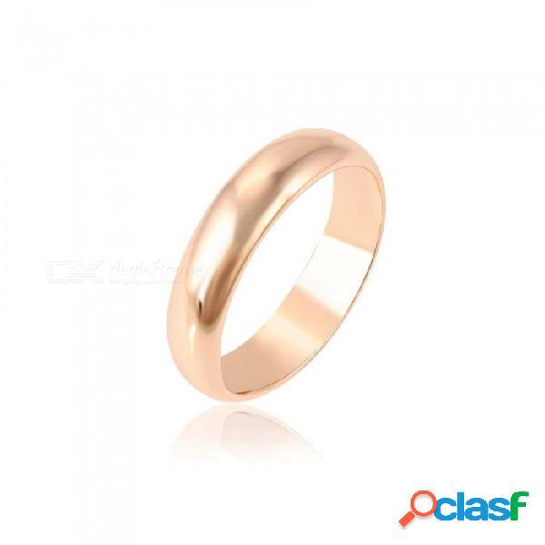Moda anillos elegantes oro rosa plateado exquisito anillo mujeres boda joyería regalo navidad s33-11000 oro rosa color / 6