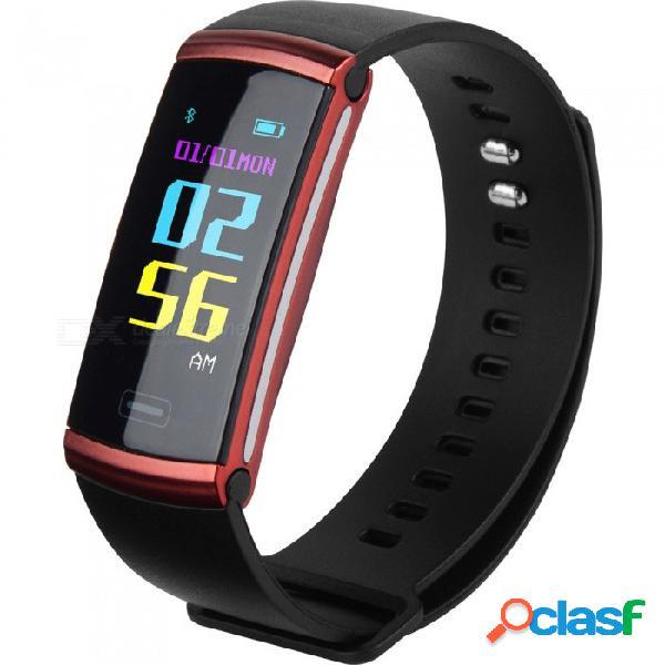 S8 plus pantalla en color de alta definición pulsera bluetooth inteligente con frecuencia cardíaca, presión sanguínea, oxígeno, monitoreo de la fatiga - rojo