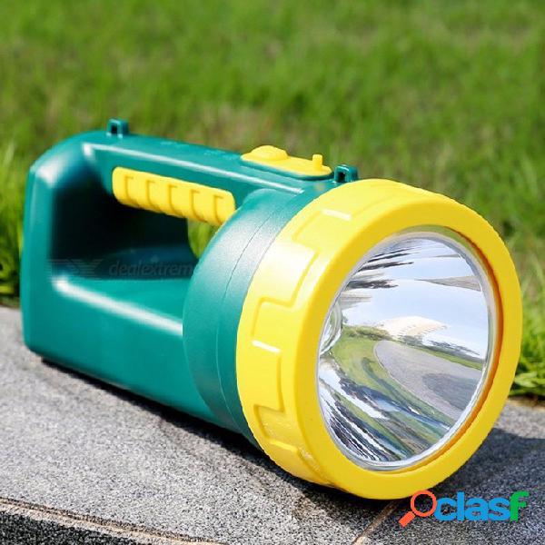 Yg-h101 3w lámpara de mano de luz led de mano al aire libre ultra brillante luz que acampa linterna recargable frío blanco / verde