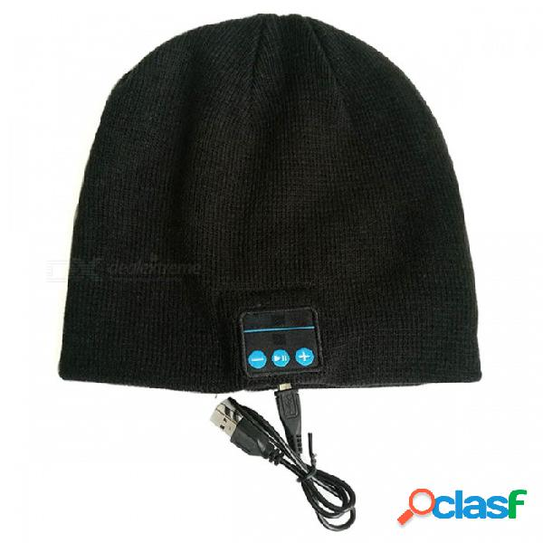 Zhaoyao smart bluetooth deportes auriculares invierno cálido gorro de punto, soporta llamada de manos libres estéreo para teléfono inteligente