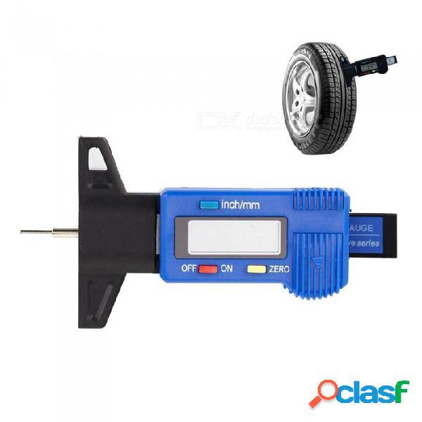 """Digital lcd 0 ~ 25mm métrico / """"herramienta de medición de profundidad de la banda de rodadura del neumático del automóvil - azul"""