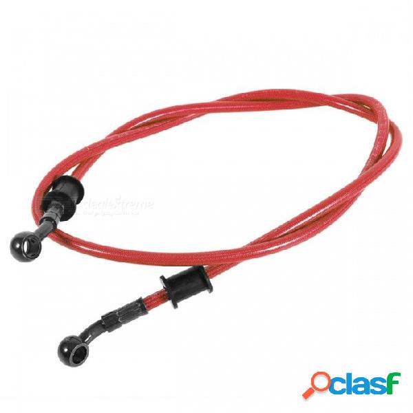 Freno de acero trenzado de la motocicleta embrague manguera de aceite tubo de línea ajuste colorido atv dirt pit bike - rojo (900 mm)