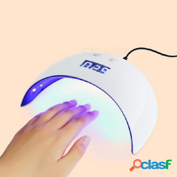 Mini usb 12-led secado máquina de curado, uv secador de uñas luz, lámpara de fototerapia de gel polaco 25 w