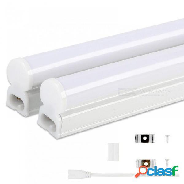 Tubo led t5 lámpara 220v 230v 240v pvc plástico luz fluorescente tubo 30cm 60cm 6w 10w led lámpara de pared blanco cálido frío 220v / 30 cm alambre