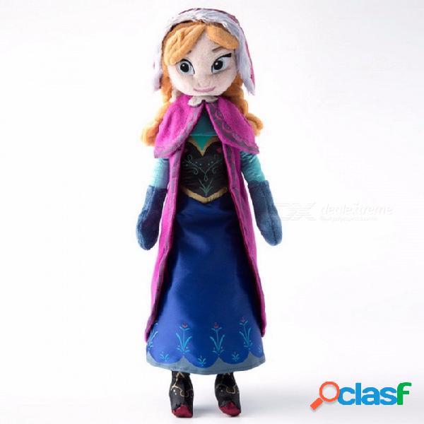 40 cm 2 unids / lote juguetes de muñeca de peluche lindo regalos únicos para niños niñas, princesa anna & elsa muñeca regalo de cumpleaños de la muchacha roja (anna)