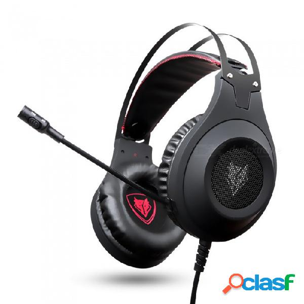 Auriculares estéreo nubwo n2 para bajos profundos, auriculares gamer casque con micrófono para computadora / ps4 / 2016 nuevo xbox one / laptop