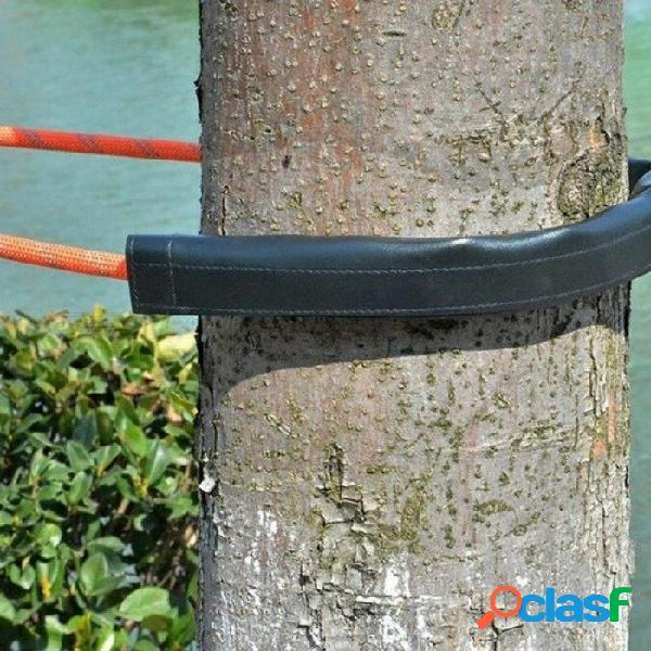 Cuerda de escalada al aire libre cubierta de protección de la cuerda del equipo de aventura para proteger la soga 50 * 12 cm con cuerda de color negro