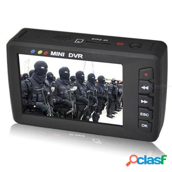Quelima grabadora de video portátil mini dvr angel eye av salida bucle cámara de video enchufe de ee.uu.