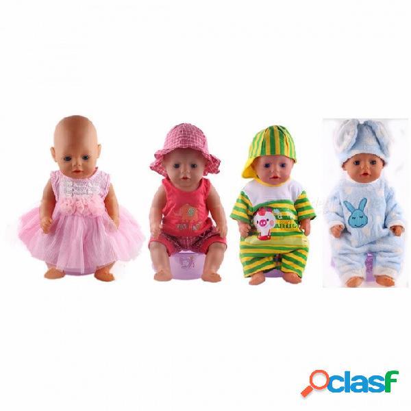 Corte ropa de muñeca deportiva de ocio encantadora, apta para 43 cm bebé nacido zapf muñeca, mejor regalo de cumpleaños de los niños