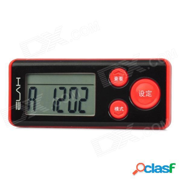 "Elah sm019 multifuncional lcd de 1,5 ""contador de pasos de calorías digitales 3d - rojo + negro (1 x cr2032)"