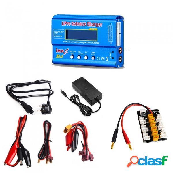 Imax b6 cargador de equilibrio de batería li-po digital + 12v 6a adaptador de corriente + enchufe de la ue cable de alimentación + xt30 placa de enchufe