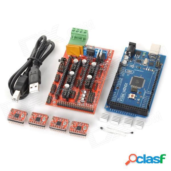 Impresora 3D Reprap mega2560 + ramps1.4 + 4-A4988 módulo de controlador paso a paso para arduino - rojo