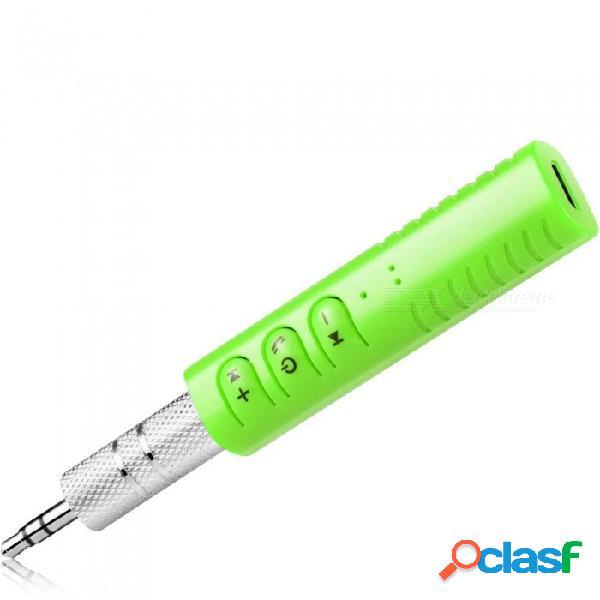 Mini mini bluetooth inalámbrico para automóvil manos libres de 3,5 mm de transmisión a2dp inalámbrico auto aux. adaptador de audio con micrófono para automóvil, teléfono, mp3