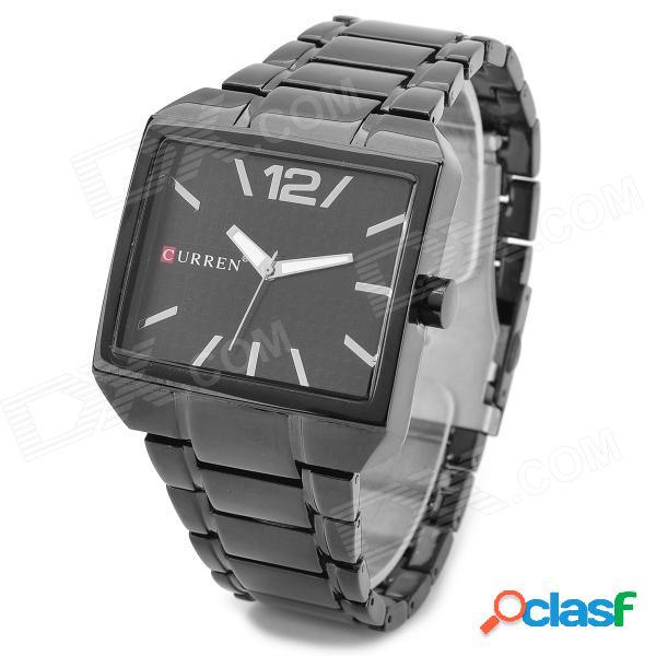 Reloj de pulsera de cuarzo con banda de acero de tungsteno resistente al agua curren 8132 resistente al agua - negro (1 x 626)