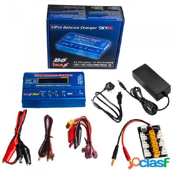 Skyrc imax b6 digital rc lipo nimh cargador de equilibrio de batería con adaptador ac power 12v 6a + enchufe de la ue fuente de alimentación + placa de enchufe xt30
