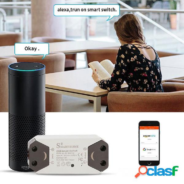 Smart wifi switch, wireless one-way smart switch, remote control comparable with alexa, google assistant