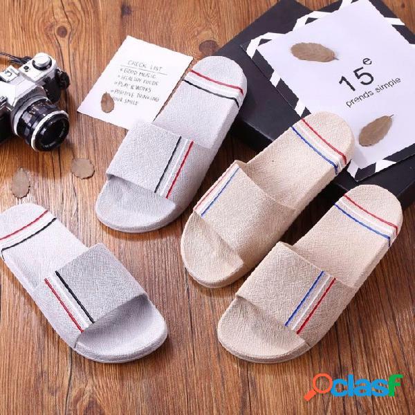 Zapatillas antideslizantes de gran tamaño para hombres suaves, sandalias antideslizantes ocasionales, sandalias planas para el baño interior negro / 40