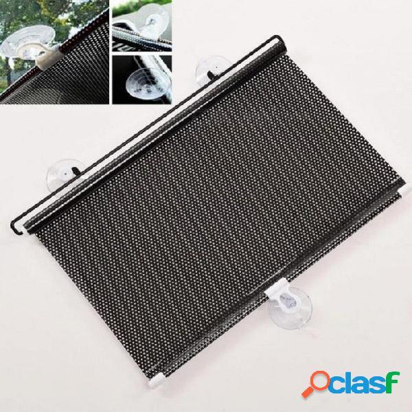125 x 40 cm protector solar ventana del coche negro persiana cortinas persianas para parabrisas visera del coche retráctil auto sun shade 124 * 40 cm
