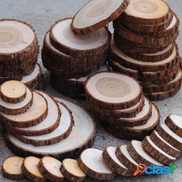 3 a 15 cm astillas de madera de pino natural pulido base artesanal hecho a mano mini micro paisajismo decoración del jardín del hogar accesorios de bricolaje 1 a 3 cm 100 unids