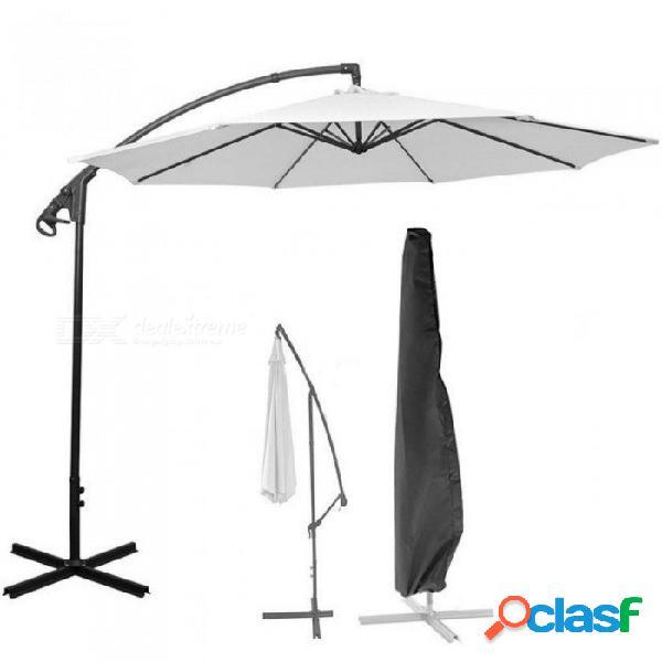 Cubierta exterior de poliéster impermeable cubierta de sombrilla de plátano jardín a prueba de intemperie patio voladizo sombrilla cubierta de lluvia accesorios paraguas negro